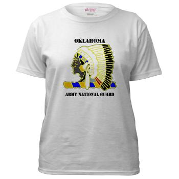 OKLAHOMAARNG - A01 - 04 - DUI - Oklahoma Army National Guard with text - Women's T-Shirt