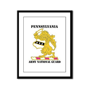 PENNSYLVANIAARNG - M01 - 02 - DUI - Pennsylvania Army National Guard with text - Framed Panel Print