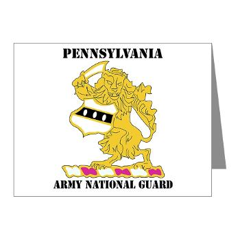 PENNSYLVANIAARNG - M01 - 02 - DUI - Pennsylvania Army National Guard with text - Note Cards (Pk of 20)