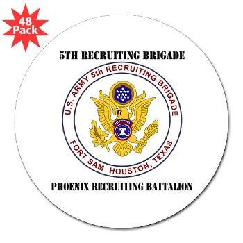 "PHRB - M01 - 01 - DUI - Phoenix Recruiting Bn with Text - 3"" Lapel Sticker (48 pk)"