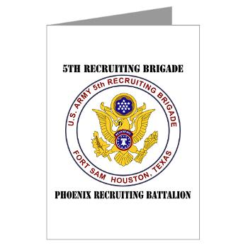 PHRB - M01 - 02 - DUI - Phoenix Recruiting Bn with Text - Greeting Cards (Pk of 10)