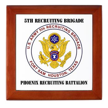 PHRB - M01 - 03 - DUI - Phoenix Recruiting Bn with Text - Keepsake Box
