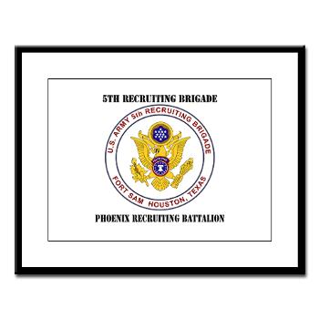 PHRB - M01 - 02 - DUI - Phoenix Recruiting Bn with Text - Large Framed Print