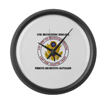 PHRB - M01 - 03 - DUI - Phoenix Recruiting Bn with Text - Large Wall Clock