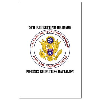 PHRB - M01 - 02 - DUI - Phoenix Recruiting Bn with Text - Mini Poster Print