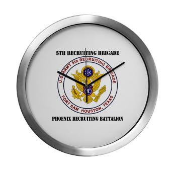 PHRB - M01 - 03 - DUI - Phoenix Recruiting Bn with Text - Modern Wall Clock