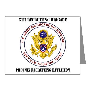 PHRB - M01 - 02 - DUI - Phoenix Recruiting Bn with Text - Note Cards (Pk of 20)