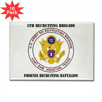PHRB - M01 - 01 - DUI - Phoenix Recruiting Bn with Text - Rectangle Magnet (10 pack)