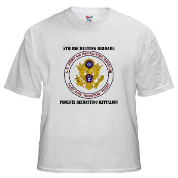 PHRB - A01 - 04 - DUI - Phoenix Recruiting Bn with Text - White t-Shirt