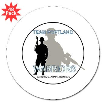 "PRB - M01 - 01 - DUI - Portland Recruiting Battalion - 3"" Lapel Sticker (48 pk)"