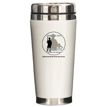 PRB - M01 - 04 - DUI - Portland Recruiting Battalion with Text - Ceramic Travel Mug