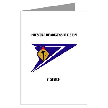 PRDC - M01 - 02 - DUI - Physical Readiness Division Cadre with Text - Greeting Cards (Pk of 20)
