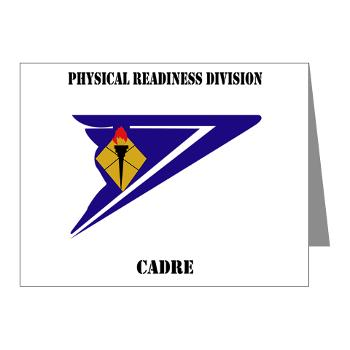 PRDC - M01 - 02 - DUI - Physical Readiness Division Cadre with Text - Note Cards (Pk of 20)