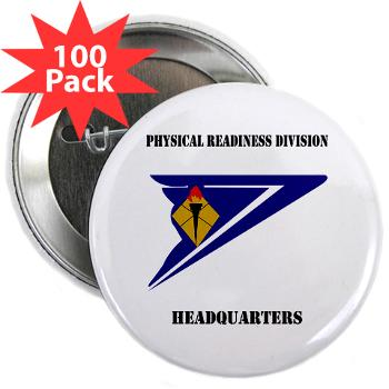 "PRDH - M01 - 01 - DUI - Physical Readiness Division Headquarters with Text - 2.25"" Button (100 pack)"