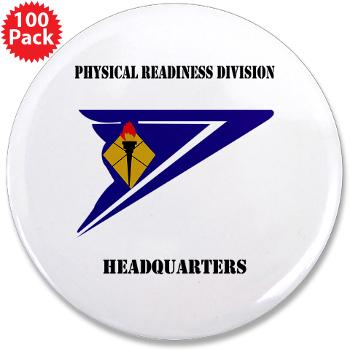 "PRDH - M01 - 01 - DUI - Physical Readiness Division Headquarters with Text - 3.5"" Button (100 pack)"