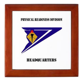 PRDH - M01 - 03 - DUI - Physical Readiness Division Headquarters with Text - Keepsake Box
