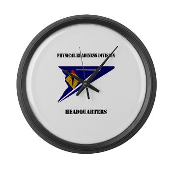 PRDH - M01 - 03 - DUI - Physical Readiness Division Headquarters with Text - Large Wall Clock