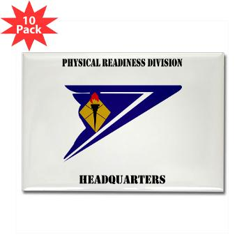 PRDH - M01 - 01 - DUI - Physical Readiness Division Headquarters with Text - Rectangle Magnet (10 pack)