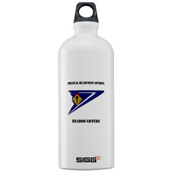 PRDH - M01 - 03 - DUI - Physical Readiness Division Headquarters with Text - Sigg Water Bottle 1.0L