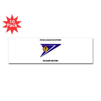 PRDH - M01 - 01 - DUI - Physical Readiness Division Headquarters with Text - Sticker (Bumper 10 pk)