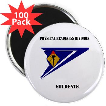 "PRDS - M01 - 01 - DUI - Physical Readiness Division Students with Text 2.25"" Magnet (100 pack)"