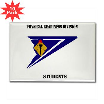 PRDS - M01 - 01 - DUI - Physical Readiness Division Students with Text Rectangle Magnet (10 pack)