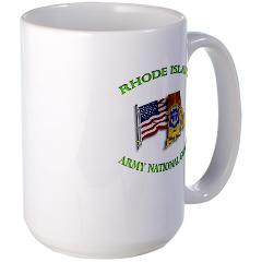 RHODEISLANDARNG - M01 - 03 - DUI - Rhode Island Army National Guard - Large Mug