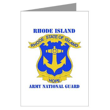 RHODEISLANDARNG - M01 - 02 - DUI - Rhode Island Army National Guard with text - Greeting Cards (Pk of 20)