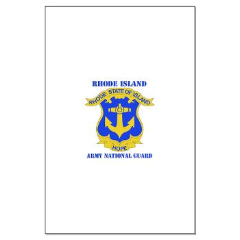 RHODEISLANDARNG - M01 - 02 - DUI - Rhode Island Army National Guard with text - Large Poster