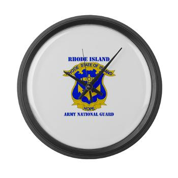 RHODEISLANDARNG - M01 - 03 - DUI - Rhode Island Army National Guard with text - Large Wall Clock