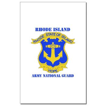 RHODEISLANDARNG - M01 - 02 - DUI - Rhode Island Army National Guard with text - Mini Poster Print