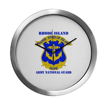 RHODEISLANDARNG - M01 - 03 - DUI - Rhode Island Army National Guard with text - Modern Wall Clock