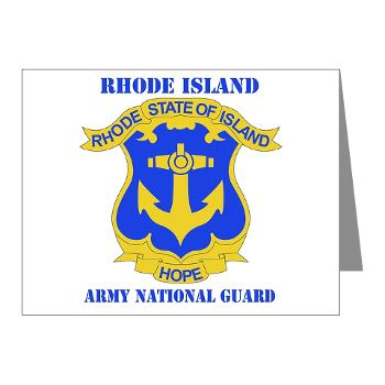 RHODEISLANDARNG - M01 - 02 - DUI - Rhode Island Army National Guard with text - Note Cards (Pk of 20)