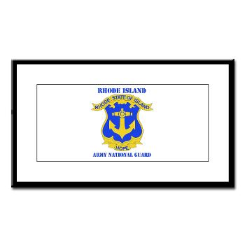 RHODEISLANDARNG - M01 - 02 - DUI - Rhode Island Army National Guard with text - Small Framed Print