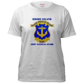 RHODEISLANDARNG - A01 - 04 - DUI - Rhode Island Army National Guard with text - Women's T-Shirt