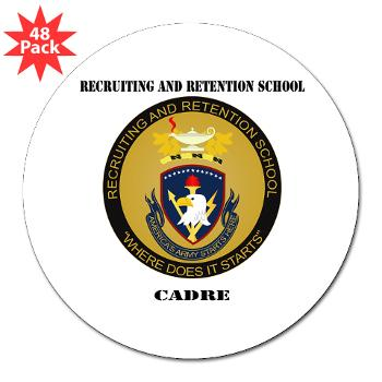 "RRSC - M01 - 01 - DUI - Recruiting and Retention School Cadre with Text 3"" Lapel Sticker (48 pk)"