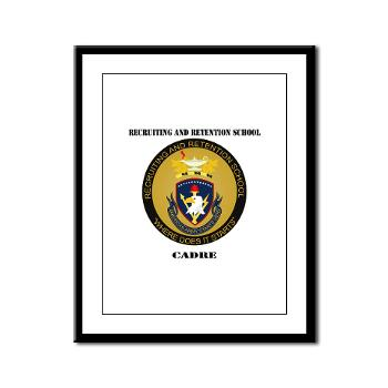 RRSC - M01 - 02 - DUI - Recruiting and Retention School Cadre with Text Framed Panel Print
