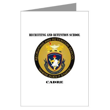 RRSC - M01 - 02 - DUI - Recruiting and Retention School Cadre with Text Greeting Cards (Pk of 20)