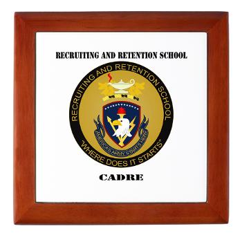 RRSC - M01 - 03 - DUI - Recruiting and Retention School Cadre with Text Keepsake Box