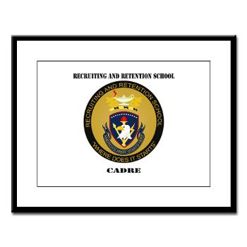 RRSC - M01 - 02 - DUI - Recruiting and Retention School Cadre with Text Large Framed Print