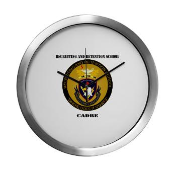 RRSC - M01 - 03 - DUI - Recruiting and Retention School Cadre with Text Modern Wall Clock