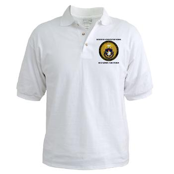 RRSH - A01 - 04 - DUI - Recruiting and Retention School HQ with Text Golf Shirt