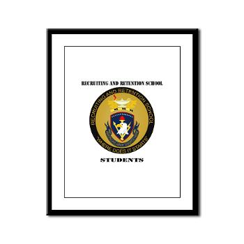RRSS - M01 - 02 - DUI - Recruiting and Retention School Students with Text Framed Panel Print