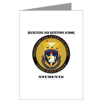 RRSS - M01 - 02 - DUI - Recruiting and Retention School Students with Text Greeting Cards (Pk of 10)