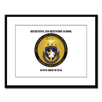 RRSS - M01 - 02 - DUI - Recruiting and Retention School Students with Text Large Framed Print
