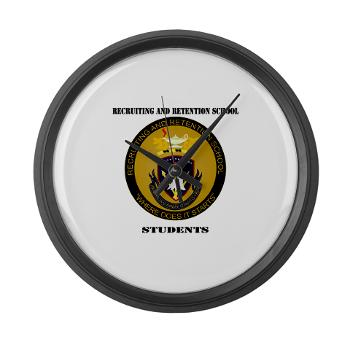 RRSS - M01 - 03 - DUI - Recruiting and Retention School Students with Text Large Wall Clock