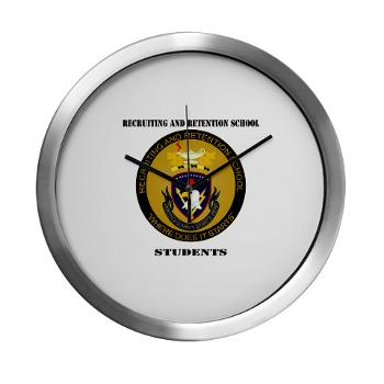 RRSS - M01 - 03 - DUI - Recruiting and Retention School Students with Text Modern Wall Clock