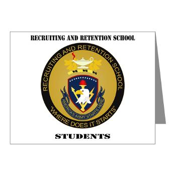 RRSS - M01 - 02 - DUI - Recruiting and Retention School Students with Text Note Cards (Pk of 20)