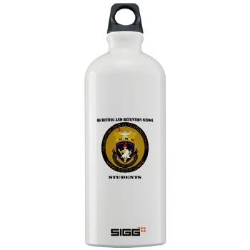 RRSS - M01 - 03 - DUI - Recruiting and Retention School Students with Text Sigg Water Bottle 1.0L