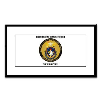 RRSS - M01 - 02 - DUI - Recruiting and Retention School Students with Text Small Framed Print